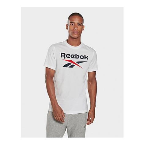 Reebok graphic series reebok stacked t-shirt - White / Vector Navy - Herren, White / Vector Navy