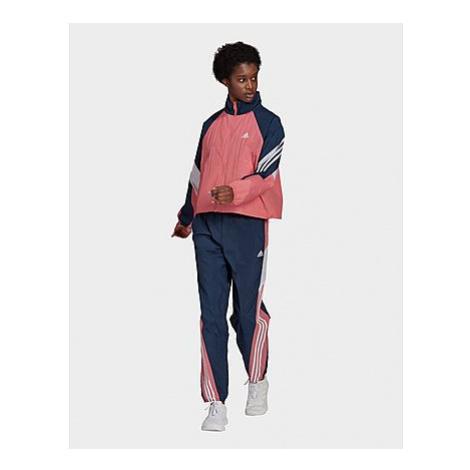 Adidas Sportswear Game-Time Woven Trainingsanzug - Hazy Rose / Crew Navy / White - Damen, Hazy R