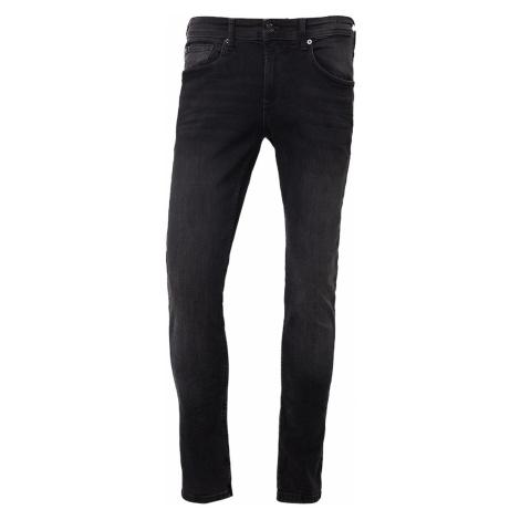 Tomtailor Denim Herren Jeans Culver - Skinny Fit - Schwarz - Used Dark Stone Black Tom Tailor
