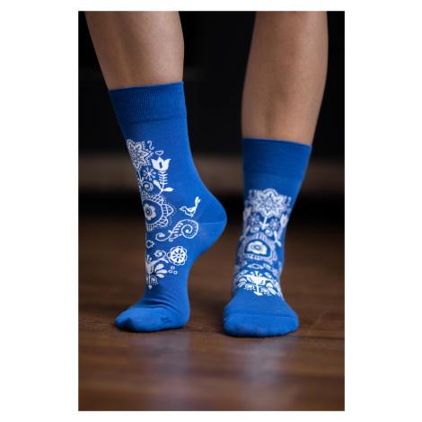 Barfuß-Socken Folk - Blau 43-46