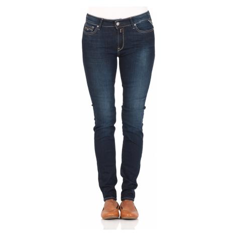 Replay Damen Jeans New Luz - Skinny Fit - Blau - Dark Blue