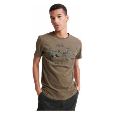 Superdry VL SHIRT SHOP BONDED TEE braun - Herrenshirt
