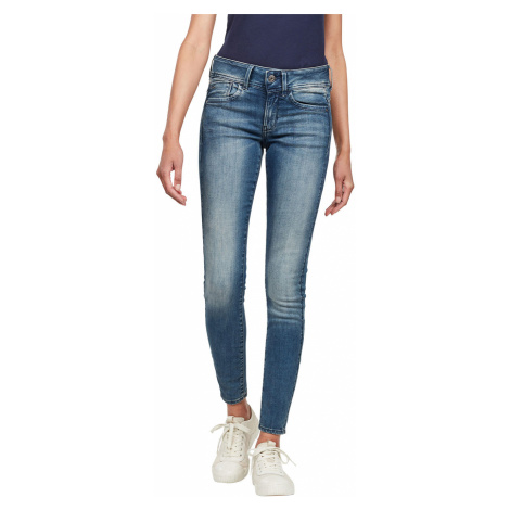 G-Star Damen Jeans Lynn Mid Waist Skinny Fit - Blau - Antic Blue G-Star Raw