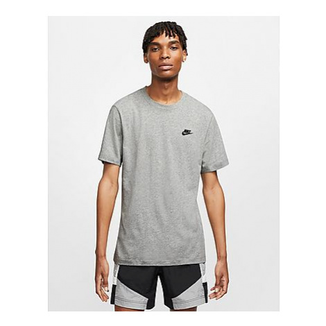Nike Nike Sportswear Club Herren-T-Shirt - Dark Grey Heather/Black - Herren, Dark Grey Heather/B