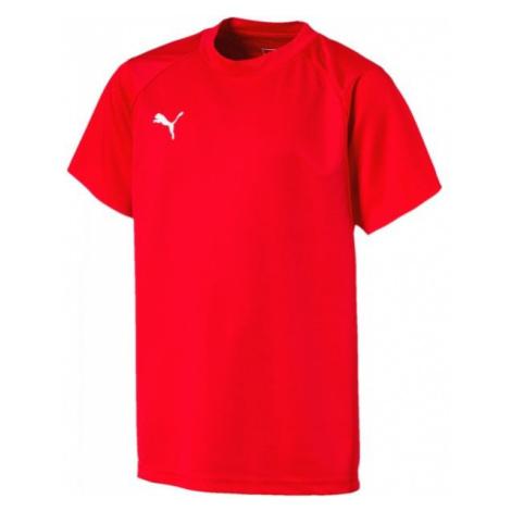 Puma LIGA TRAINING JERSEY JR rot - Kinder T-Shirt