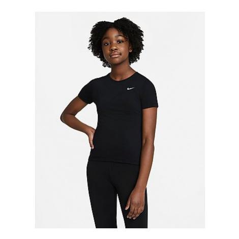 Nike Pro Kurzarm-Oberteil Kinder - Black/White - Kinder, Black/White