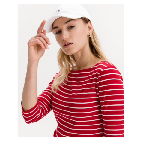 Tommy Hilfiger Boat Neck T-Shirt Rot