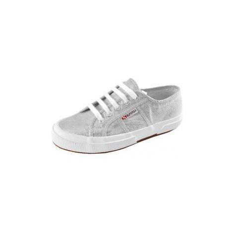 Sneaker 'Glitzer' silber, Superga