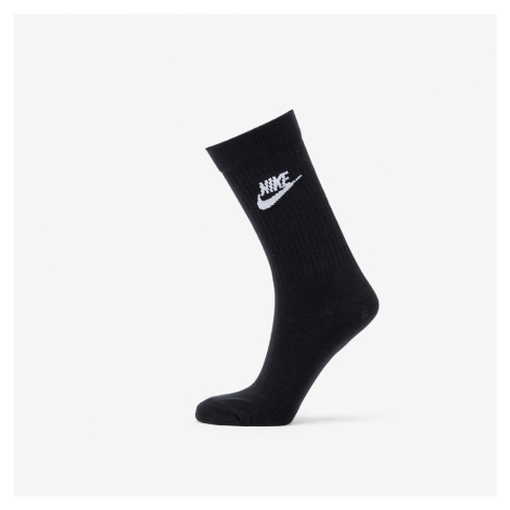 Nike Sportswear Everyday Essential 3 Pack Crew Socks Black/ White