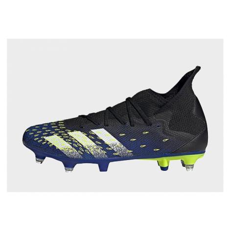 Adidas Predator Freak.3 SG Fußballschuh - Core Black / Cloud White / Solar Yellow - Damen, Core