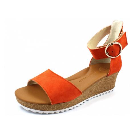 Damen Paul Green Komfort Sandalen rot