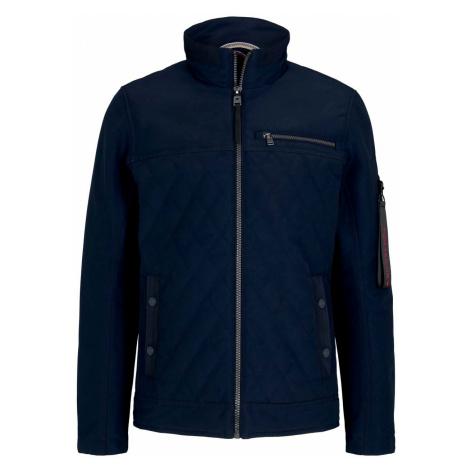 TOM TAILOR Herren gesteppte Jacke mit Stehkragen, blau