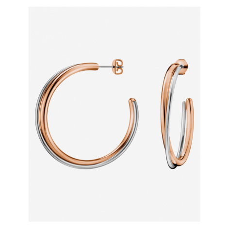 Calvin Klein Ohrringe Silber Beige