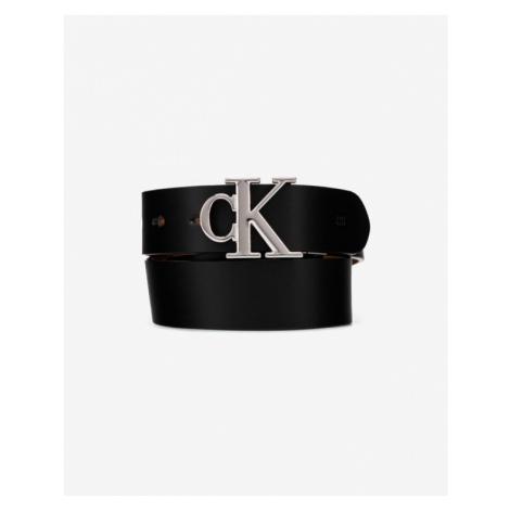 Calvin Klein Reversible Logo Gürtel Schwarz Braun