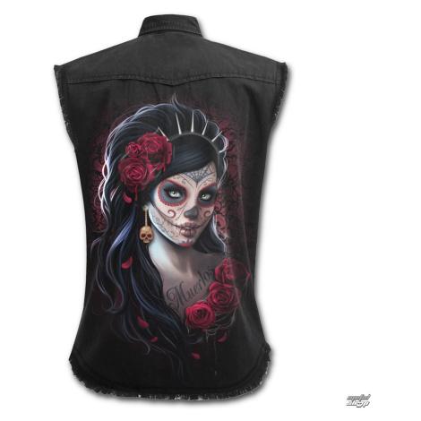 Ärmelloses Damen Hemd SPIRAL - DAY OF THE DEAD - Schwarz - K026G070