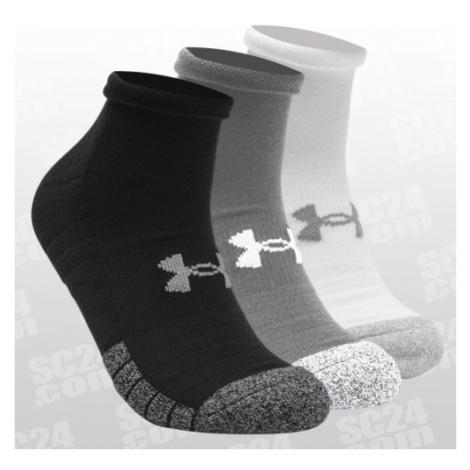 Under Armour HeatGear Lo Cut Socks 3er-Pack schwarz/grau Größe 47-49