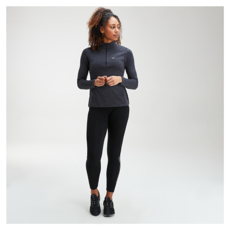 MP Women's Performance Zip Training Top- Black/Charcoal Marl