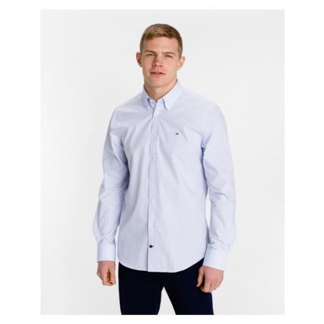 Tommy Hilfiger Poplin Wide Stripe Hemd Blau