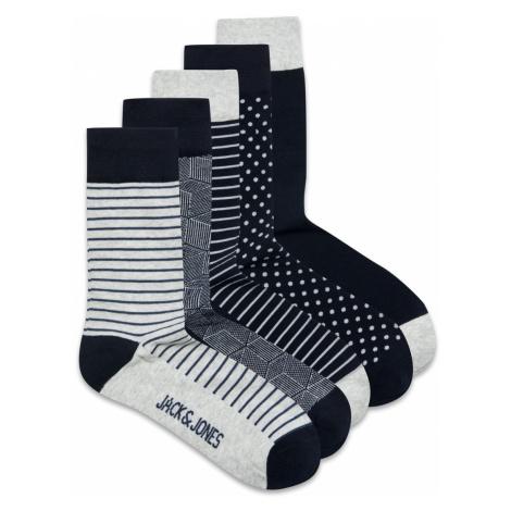 Jack & Jones Herren Socken Jaclight Grey 5Er Pack