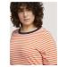TOM TAILOR MY TRUE ME Damen Gestreiftes T-Shirt mit Bio-Baumwolle , orange