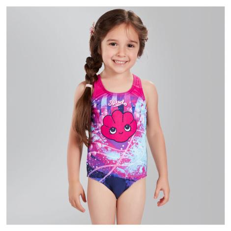 Speedo Tidal Idol Essential Badeanzug mit Applikation, Pink/Navy