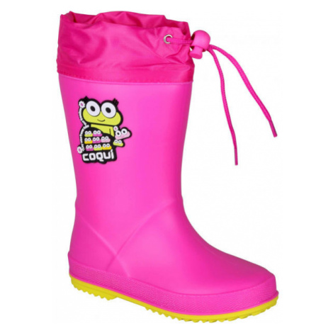 Coqui RAINY COLLAR rosa - Kinderstiefel