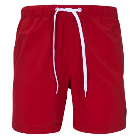 TOM TAILOR Herren Badeshorts mit Eingrifftaschen, rot
