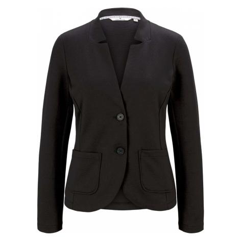 TOM TAILOR Damen Strukturierter Ottoman Blazer, schwarz