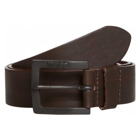 Wrangler Herren Jeans Leder Gürtel Kabel Buckel - Braun - Brown