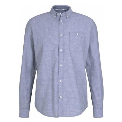 TOM TAILOR Herren Hemd mit Bio-Baumwolle , blau