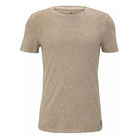 TOM TAILOR Herren T-Shirt im Washed-Look, beige