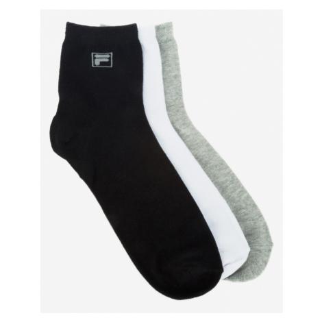 FILA 3 Paar Socken Schwarz Weiß Grau
