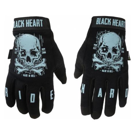 Handschuhe BLACK HEART - Moto W-TEC Web Skull - SCHWARZ - 029-0012-BLK 4XL