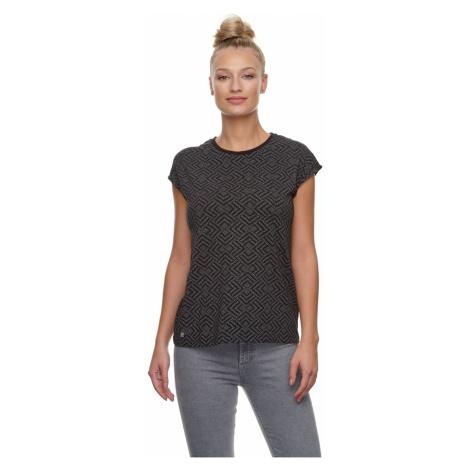 Ragwear Damen T-Shirt DIONE PRINT 2111-10008 Schwarz Black 1010