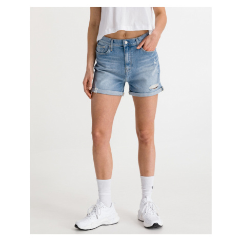 Calvin Klein Mom Shorts Blau