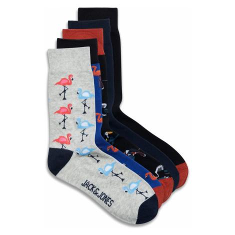 Jack & Jones Herren Socken Jacsummer Flamingo 5Er Pack