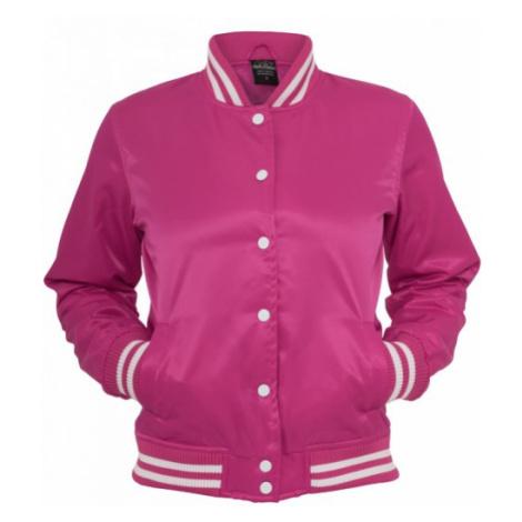 Urban Classics Ladies Shiny College Jacket fus/wht