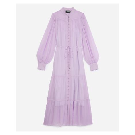 The Kooples - Langes Kleid violett Volants Gürtel - HERREN