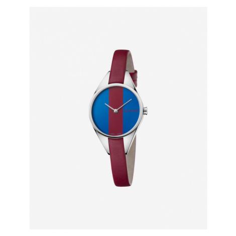 Calvin Klein Rebel Armbanduhr Blau Rot Silber