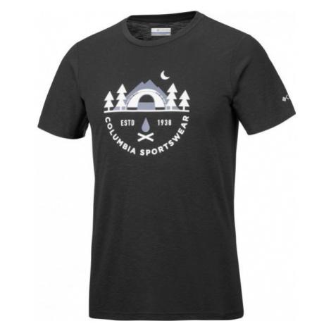 Columbia NELSON POINT GRAPHIC SHORT SLEEVE TEE schwarz - Herren Shirt