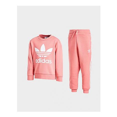 Adidas Originals Girls' Trefoil Crew Tracksuit Children - Kinder