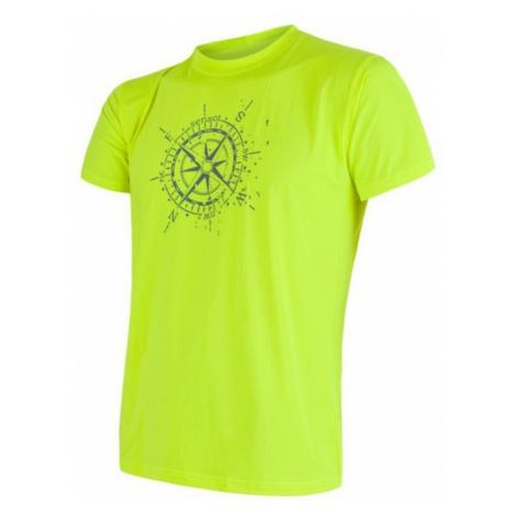 Herren T-Shirt Sensor COOLMAX FRESH PT KOMPAS yellow reflex 17100010