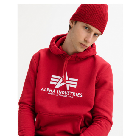Alpha Industries Basic Sweatshirt Rot