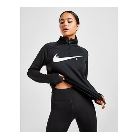 Nike Swoosh Run Laufoberteil Damen - Black/White - Damen, Black/White