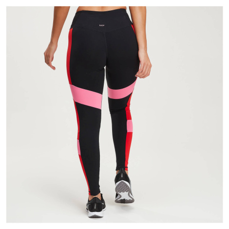 Power Colour Block Leggings - Schwarz/Danger