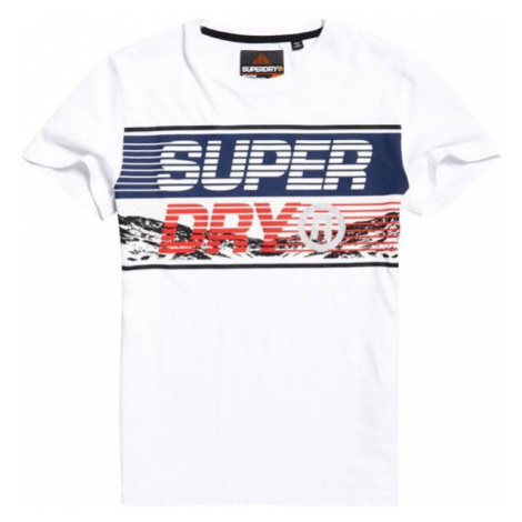 Superdry DOWNHILL PHOTOGRAPHIC TEE weiß - Herrenshirt