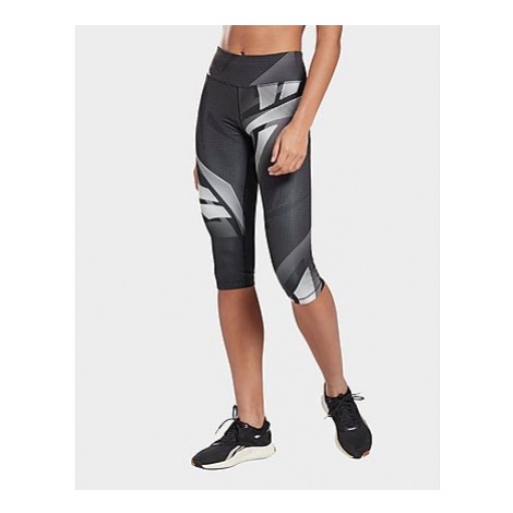 Reebok myt printed capri tight - Black - Damen, Black