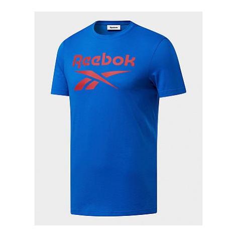 Reebok graphic series reebok stacked t-shirt - Blue Sport - Herren, Blue Sport