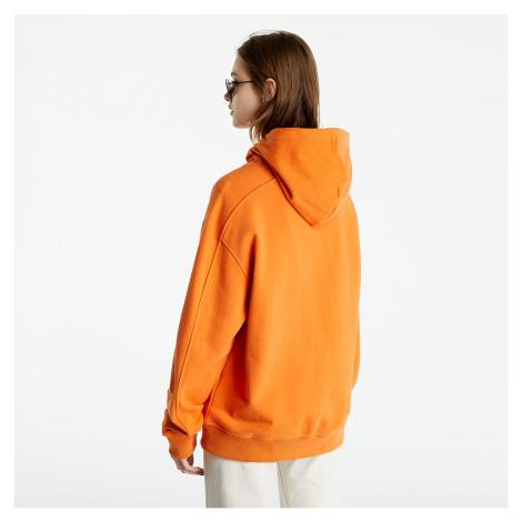 Calvin Klein Jeans Micro Branding Hoodie Rusty Orange