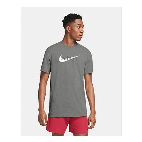 Nike Dri-FIT Trainings-T-Shirt mit Swoosh Herren - Dark Grey Heather - Herren, Dark Grey Heather